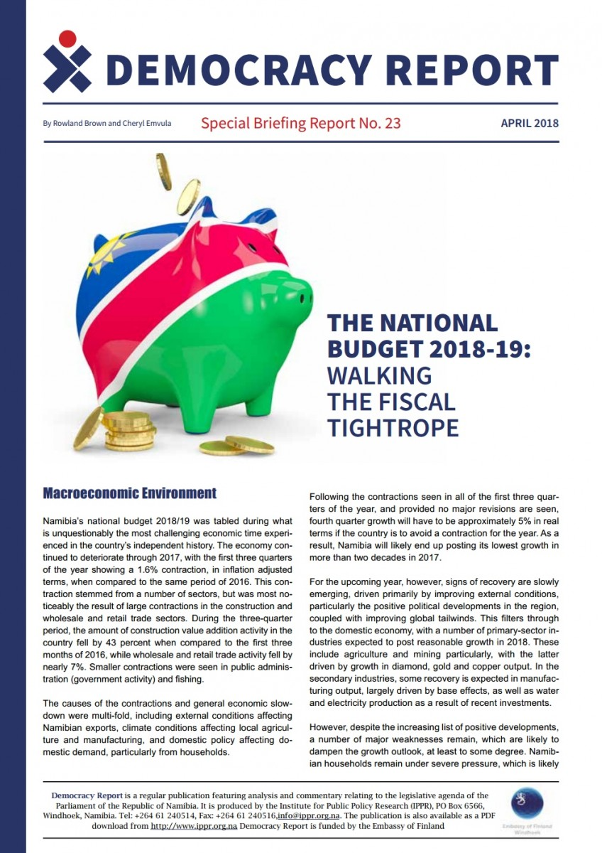 The National Budget 2018-19 - IPPR